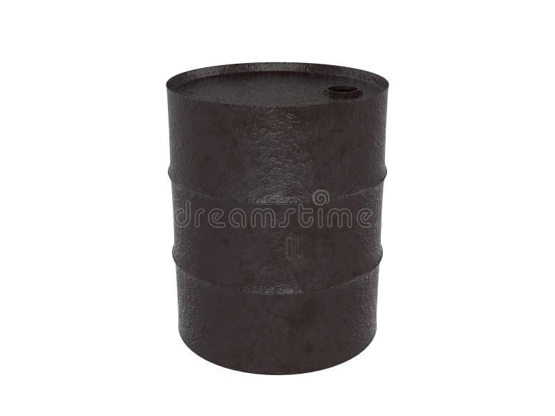 Representación industrial del barril de aceite del metal 3D ilustración del vector