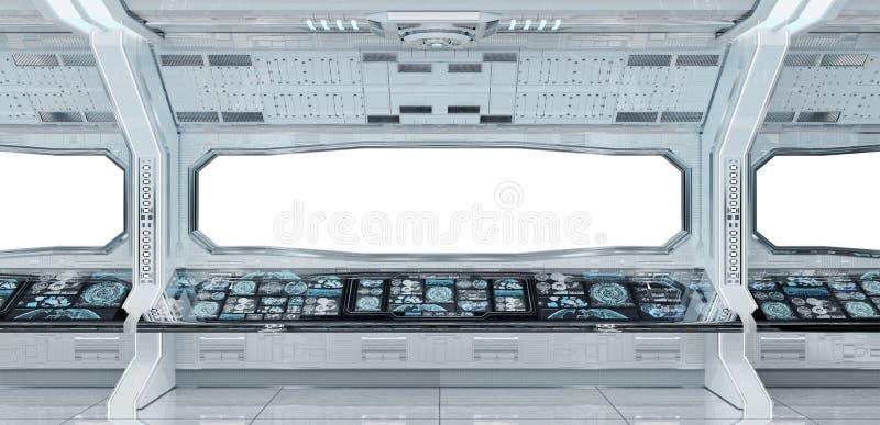 Representación interior del fondo 3D de la nave espacial limpia blanca libre illustration