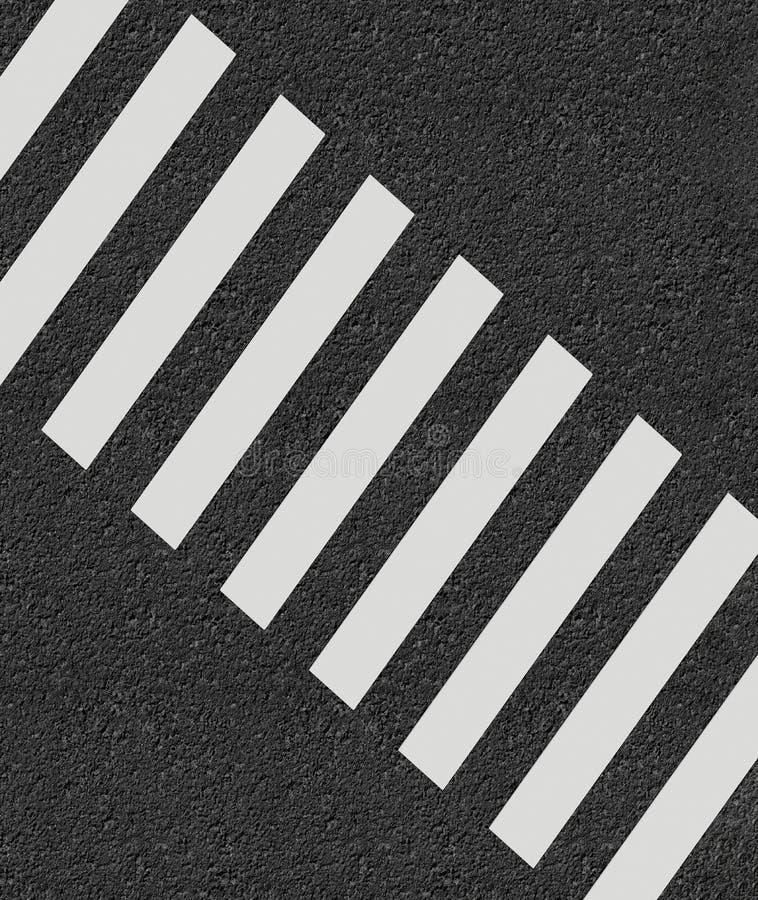 Representación mínima del estilo 3d del paso de peatones stock de ilustración