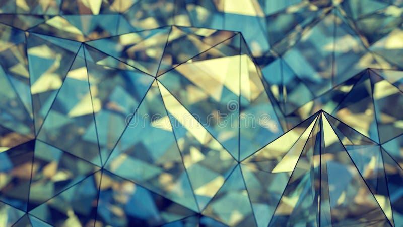 Representación moderna de la construcción 3D del vidrio y del acero con el DOF libre illustration
