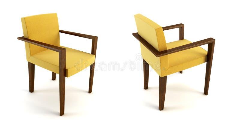 Representación moderna de la silla 3d ilustración del vector