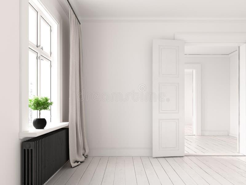 Representación vacía interior del sitio 3D ilustración del vector