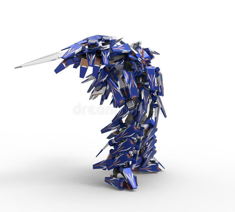 representaci?n 3d de los robots creados usando una herramienta de la licuadora libre illustration