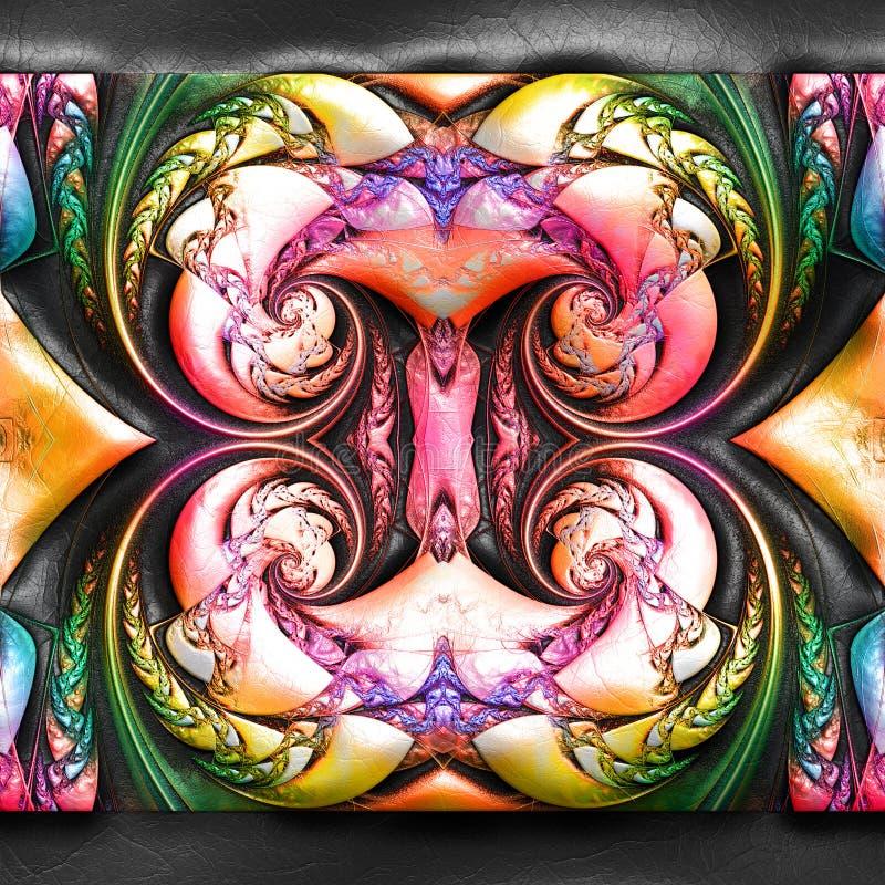 representaci?n 3D del fractal pl?stico en el cuero ilustración del vector