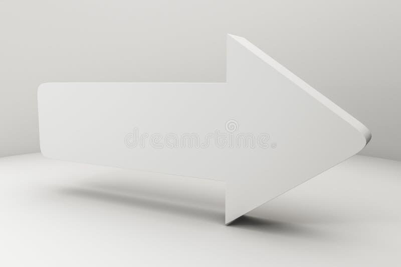 representaci?n 3d, modelo 3d de la flecha, el concepto de desarrollo y direcci?n ilustración del vector