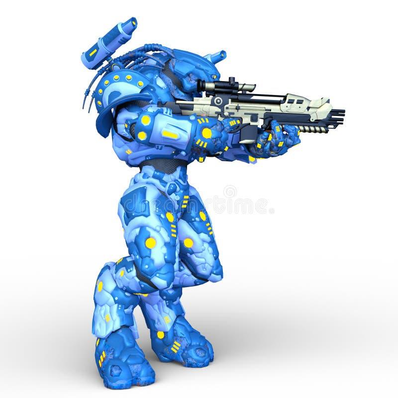 representaci?n de 3D CG del robot libre illustration