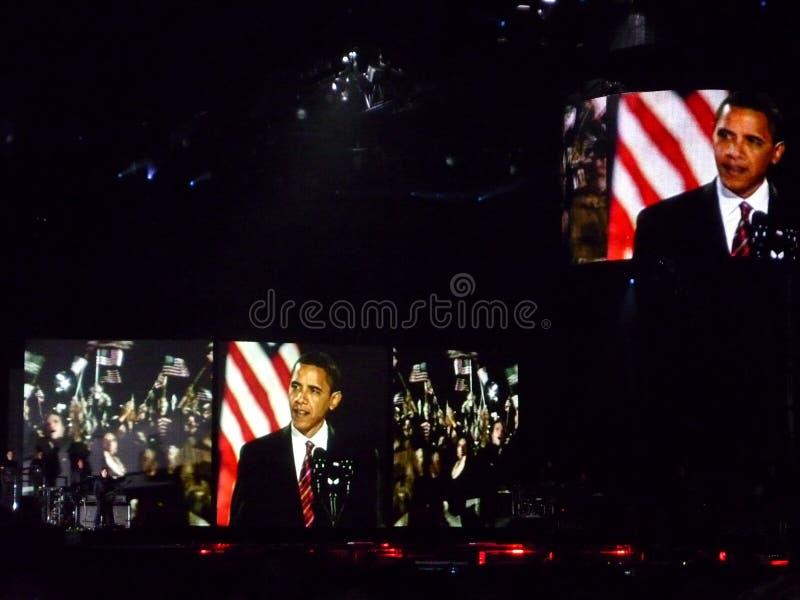 Representaciones visuales de Obama fotografía de archivo libre de regalías