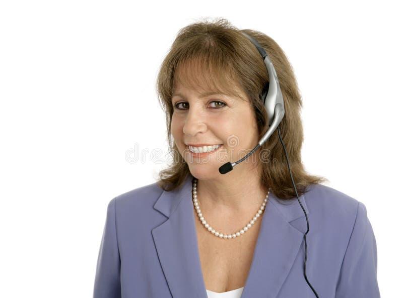 Representante amigável do serviço de atenção a o cliente fotos de stock