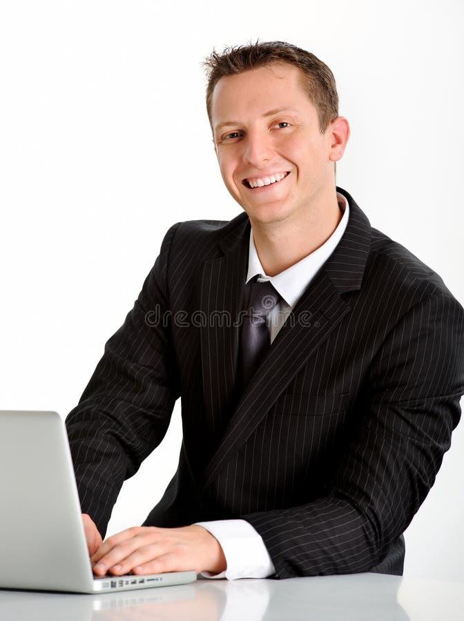 Representante de ventas cómodo imagen de archivo libre de regalías
