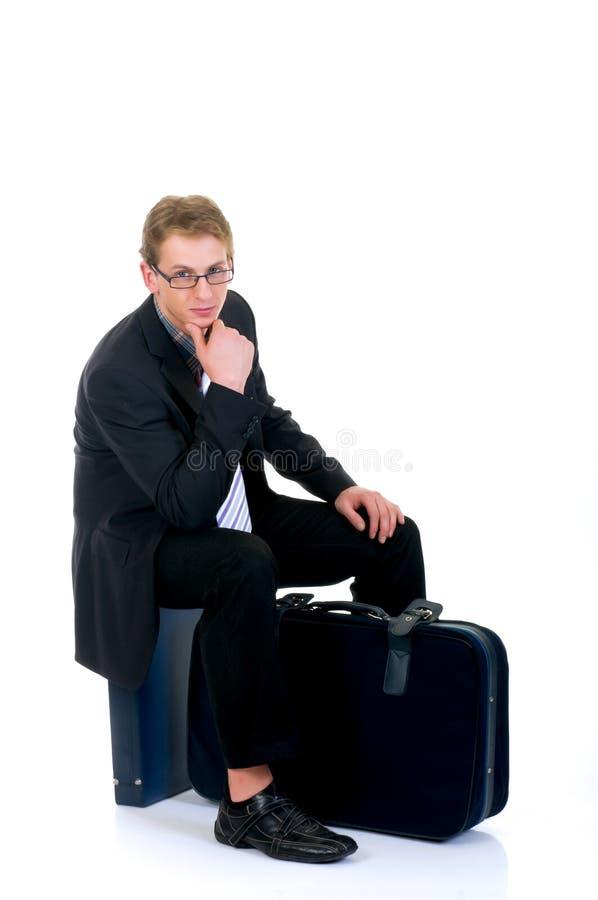 Representante de ventas, hojas de ruta (traveler) fotografía de archivo
