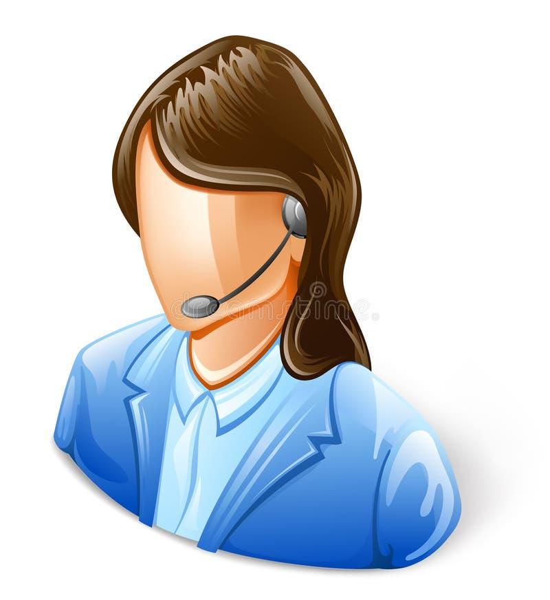 Representante del servicio de atención al cliente ilustración del vector