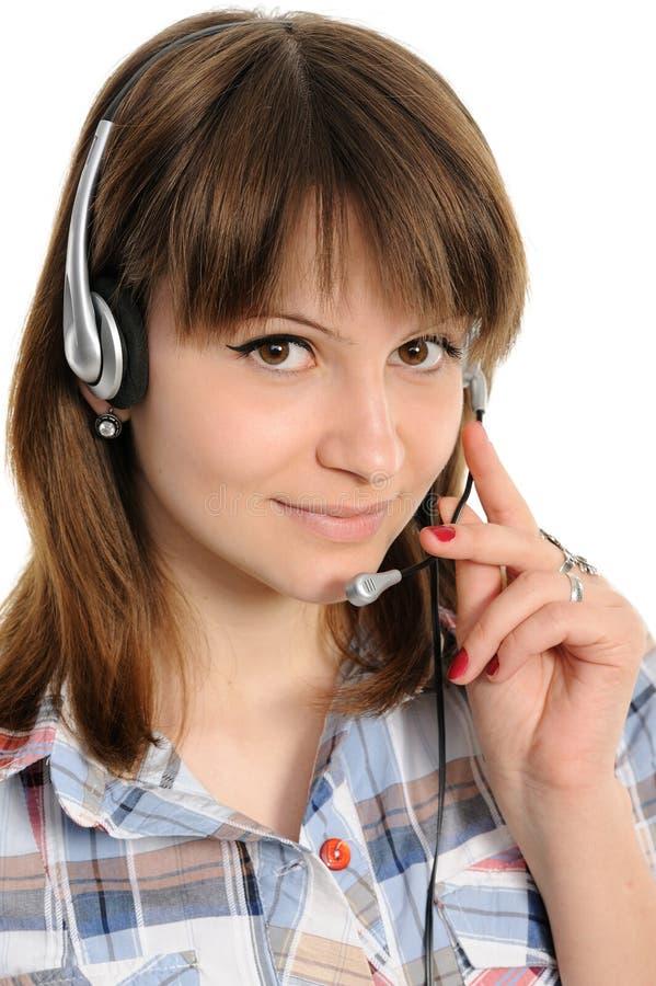 Representante del servicio de atención al cliente de la mujer imágenes de archivo libres de regalías