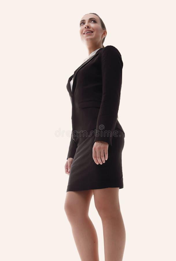 Representante fêmea amigável da empresa imagens de stock