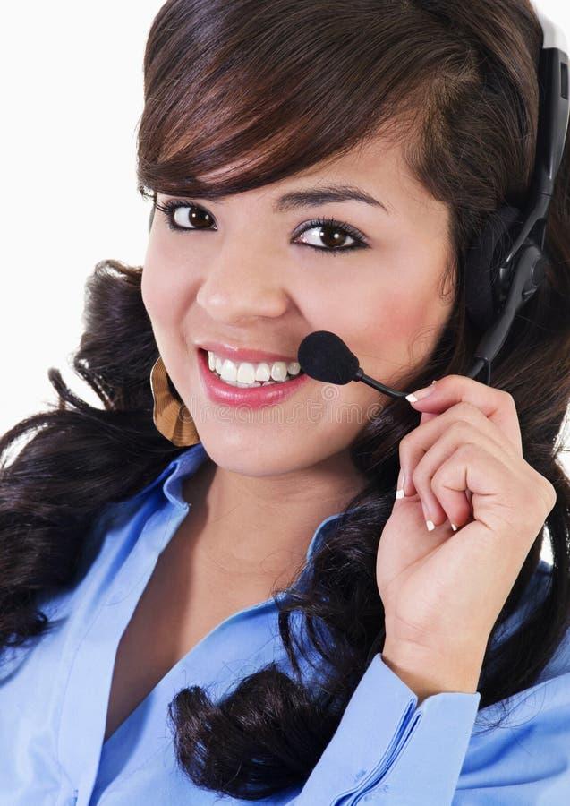 Representante fêmea do centro de chamadas fotos de stock