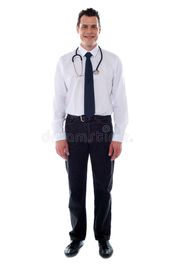 Representante masculino médico confiável foto de stock