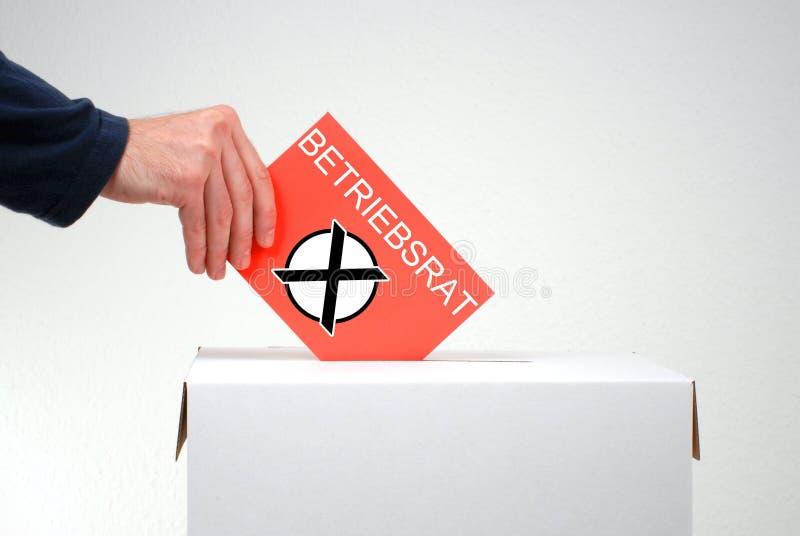 Representantes de empregado da eleição alemães fotos de stock