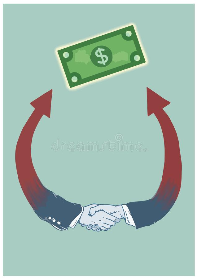Representation of an agreement by handshake. A symbol of Economic agreement to achieve economic success. stock images