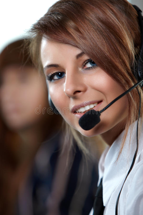Download Representative Call Center Woman With Headset. Stock Photo - Image of friendly, blonde: 13537704