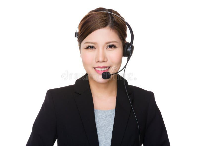 Representativea dos serviços ao cliente imagens de stock