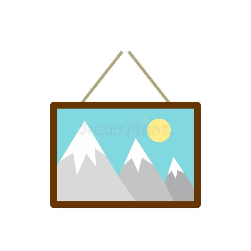 Represente el colgante de un icono de la pared, estilo plano ilustración del vector
