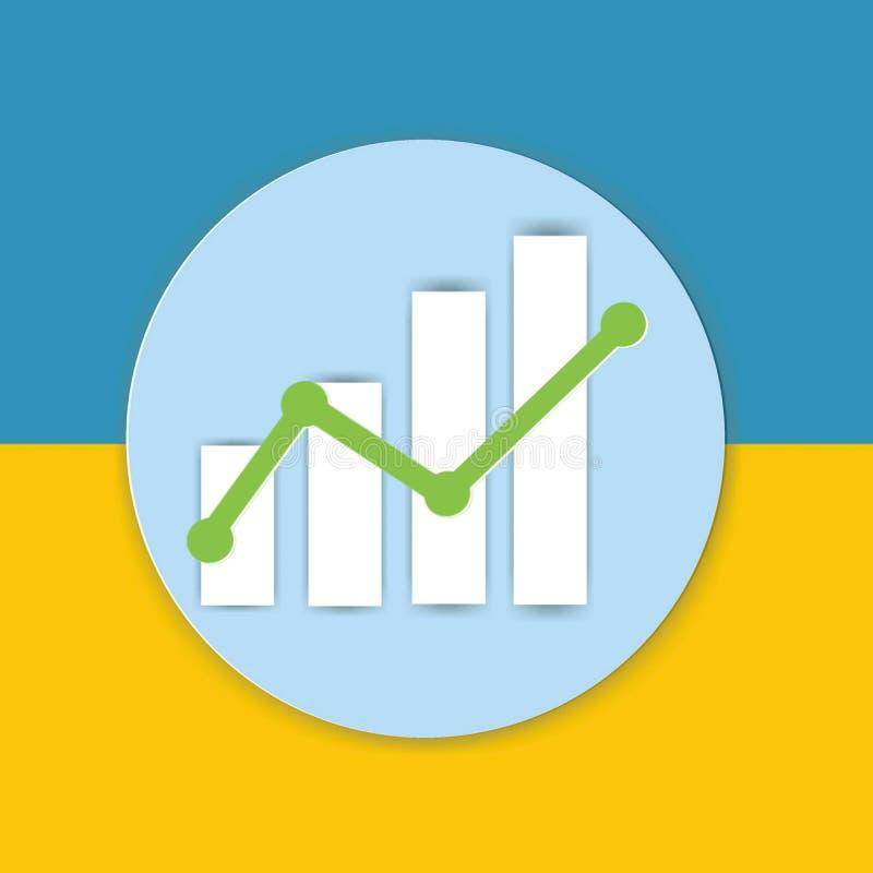 Represente el icono de la muestra gráficamente de la carta en fondo amarillo y azul imagenes de archivo