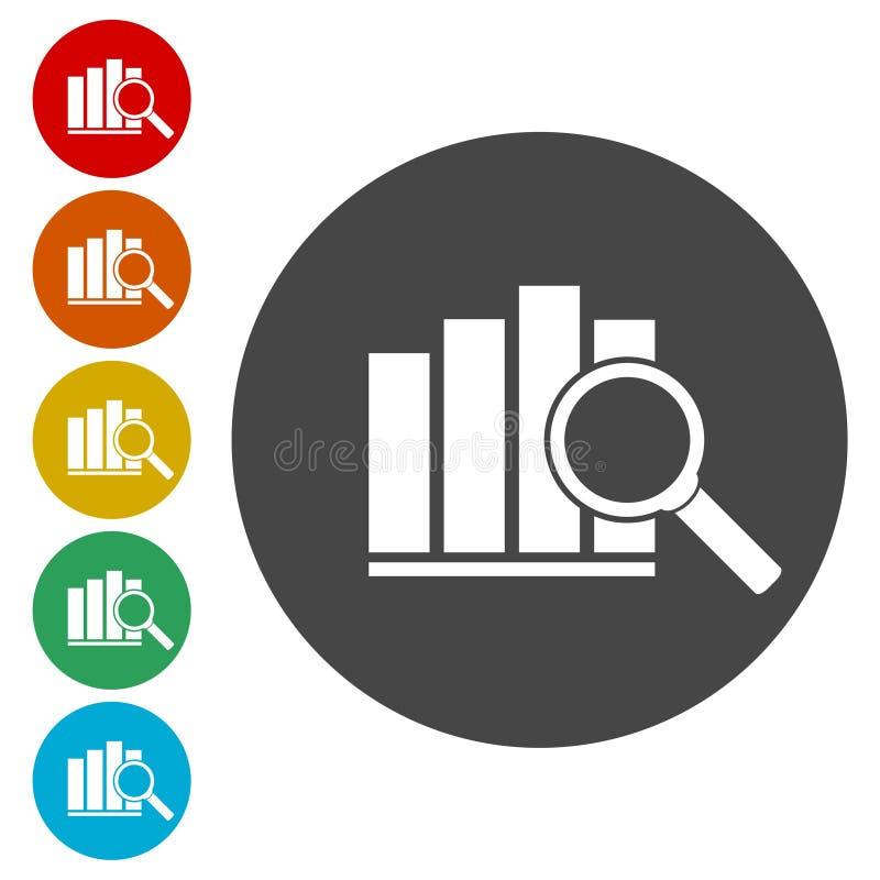 Represente el icono gráficamente, icono de la carta, icono del vector de la carta stock de ilustración