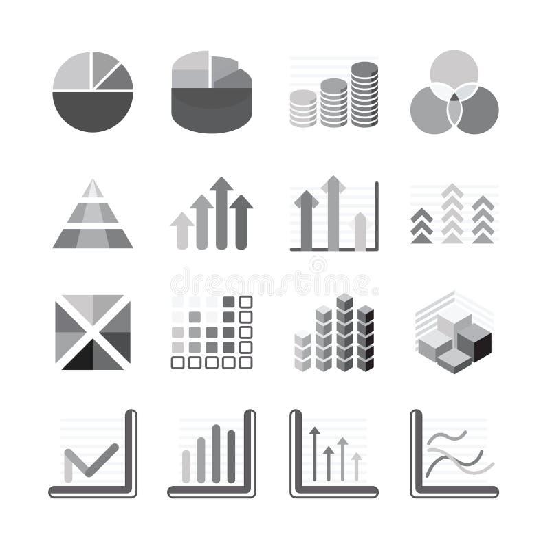 Represente el negocio de la carta y detrás el color gráficamente fijado los iconos financieros. Vector stock de ilustración