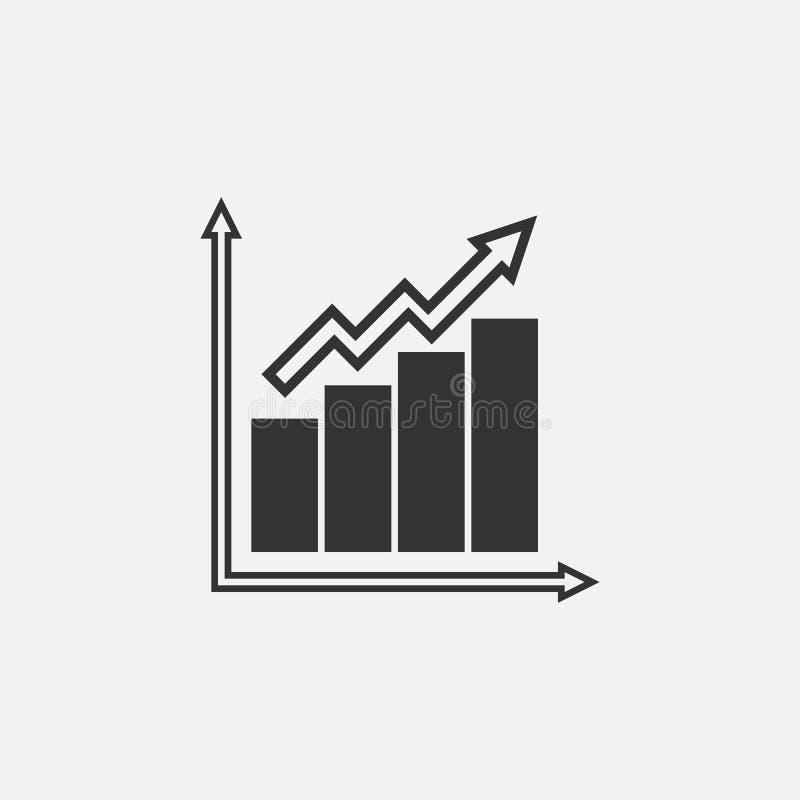 Represente graficamente o ícone, analista, calcule-o, matemática ilustração stock