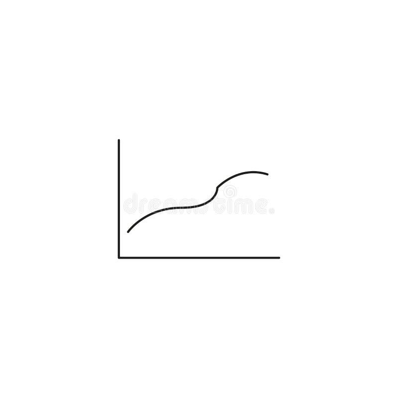 Represente graficamente o ícone no estilo liso na moda isolado no fundo cinzento Símbolo para seu projeto da site, logotipo da ca ilustração stock