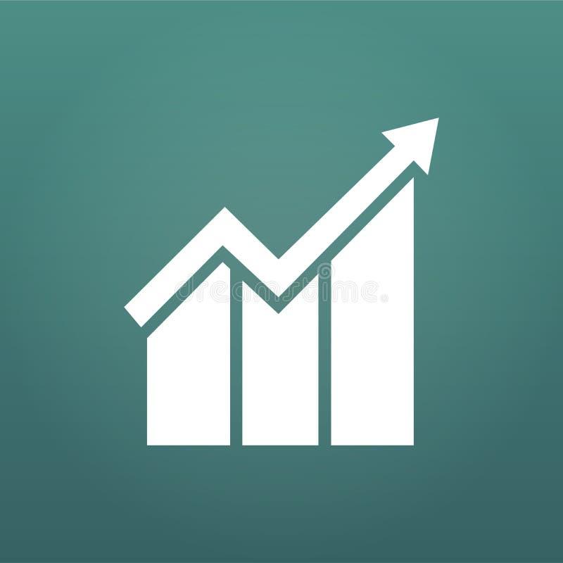 Represente graficamente o ícone no estilo liso na moda isolado no fundo moderno Símbolo da barra da carta para o projeto da site, ilustração stock