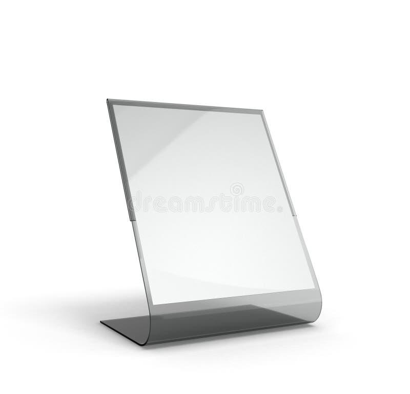 Represente menú con las hojas de papel blancas en un fondo blanco ilustración del vector