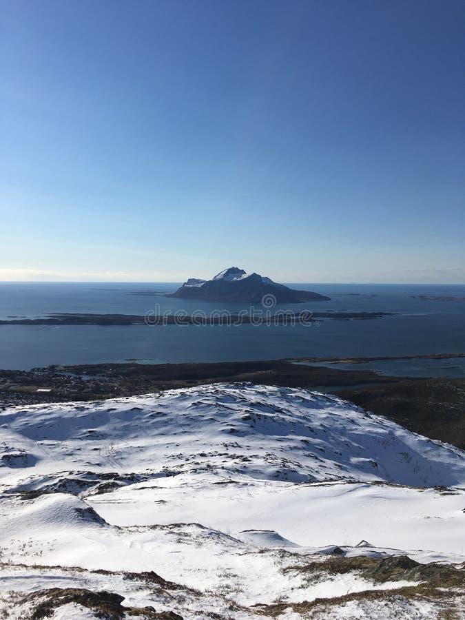 Represente tomado de Sandnestiden en el norte de Noruega foto de archivo libre de regalías