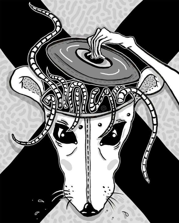 Represente una cabeza de la rata libre illustration