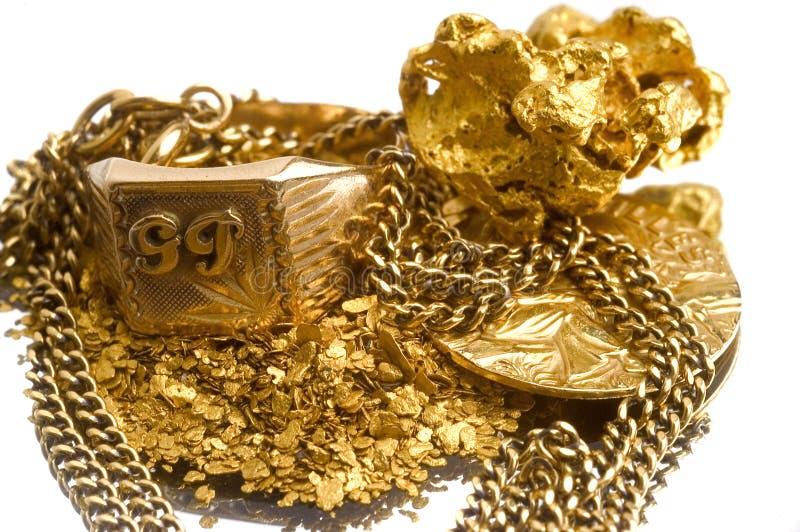 Reprise de vieux bijoux photo stock