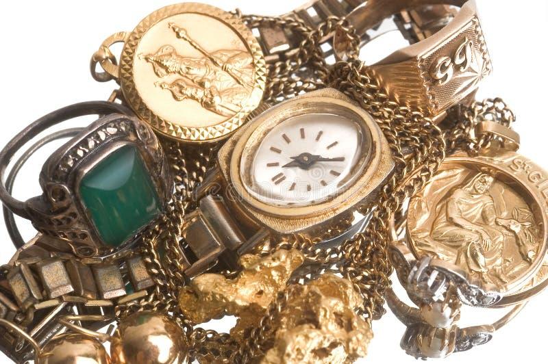 Reprise de vieux bijoux images libres de droits