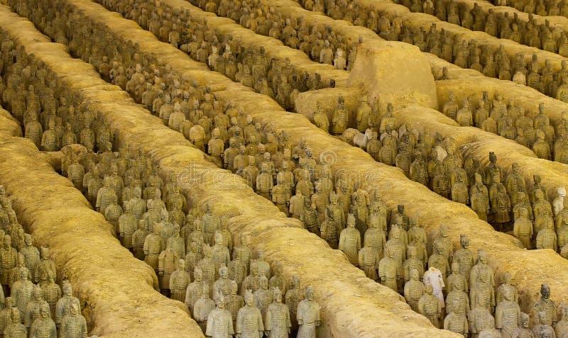 Reprodução diminuta do exército da terracota, outubro shenzhen, porcelana imagem de stock