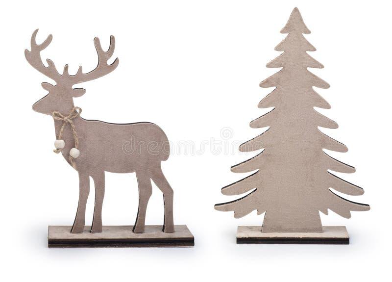 Reprodução e elementos de design da árvore de Natal isolados em fundo branco, caminho de recorte incluído imagens de stock royalty free
