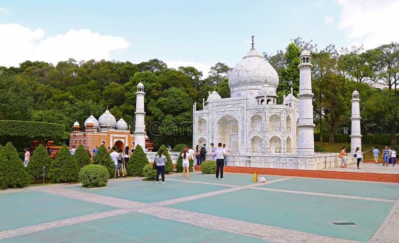 Reprodução mahal de Taj na janela do mundo, shenzhen, porcelana fotos de stock royalty free