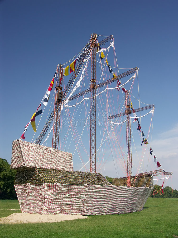 Reproducción de la nave de Santa María foto de archivo