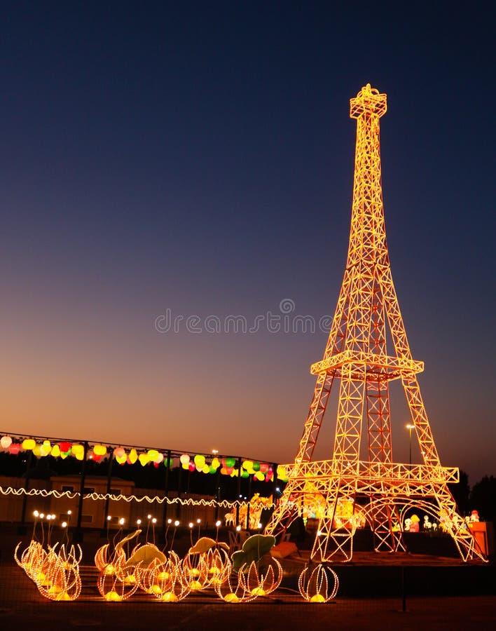 Reproducción de la torre Eiffel fotografía de archivo