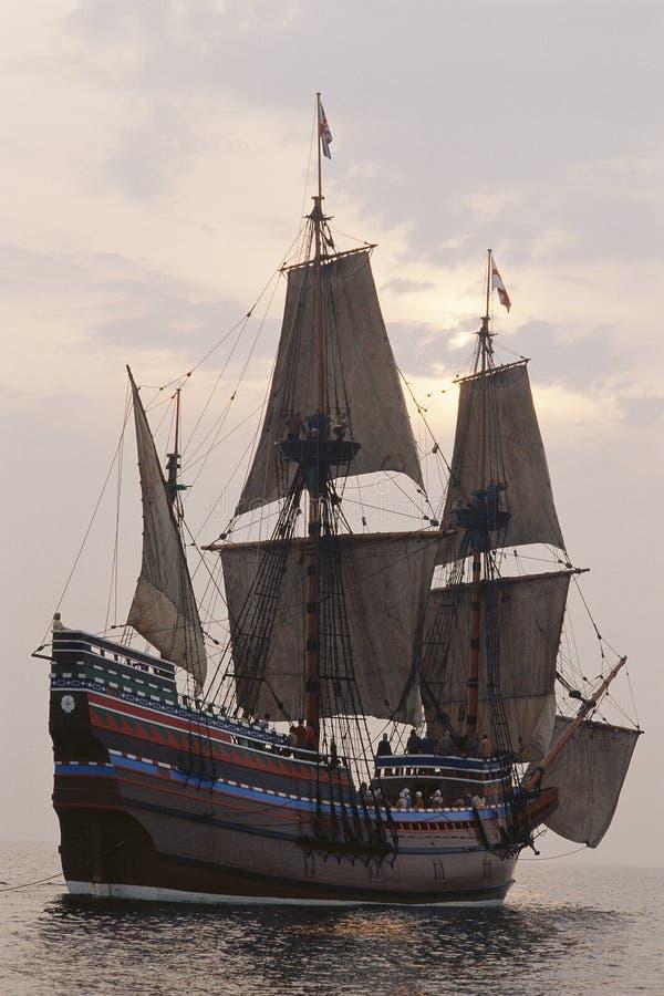 Reproducción de Mayflower II fotografía de archivo libre de regalías
