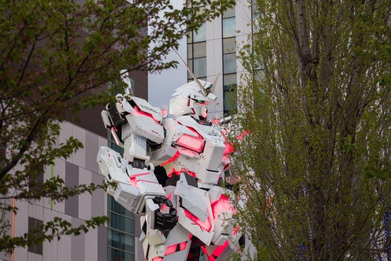 Reproducción móvil del mismo tamaño del traje RX-0 Unicorn Gundam fotografía de archivo