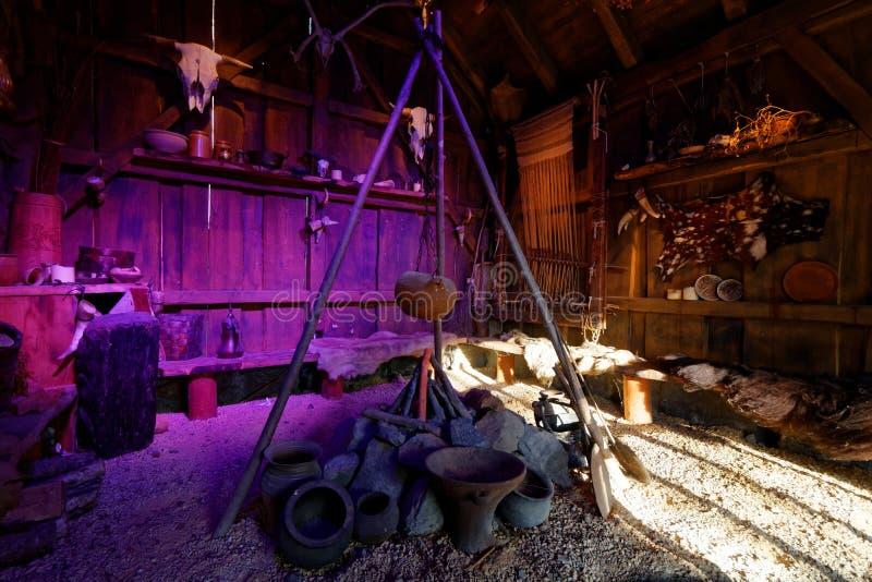 Reproducción viva escandinava histórica del lugar fotos de archivo