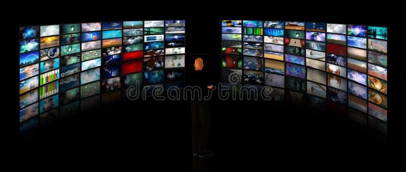 Reproducciones de vídeo de la visión del hombre fotografía de archivo