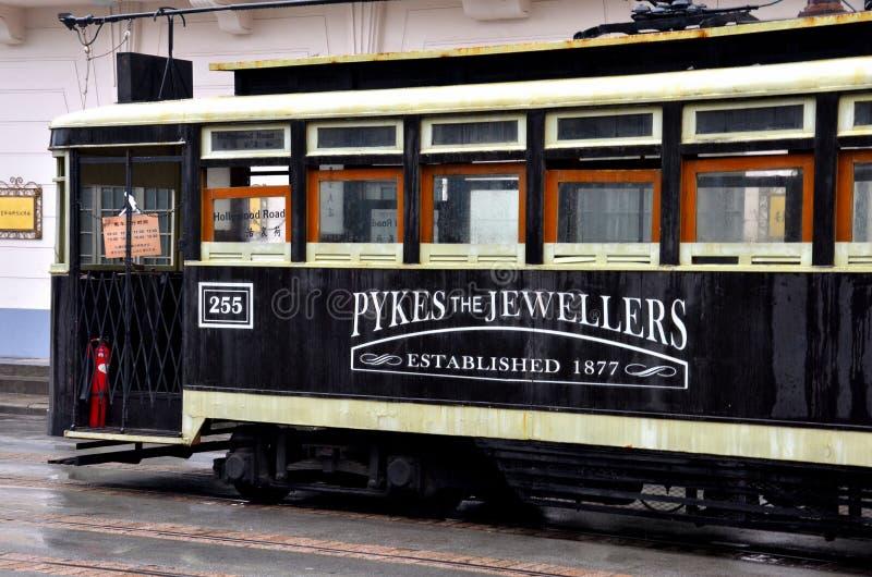 Reproduction de chariot antique à tram de Changhaï, Chine photographie stock libre de droits