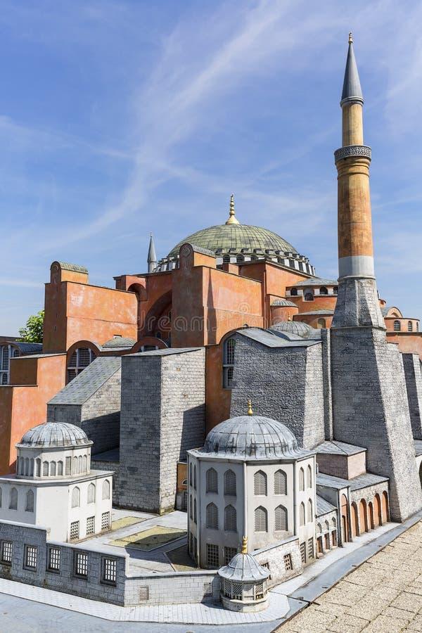 Reproduction de Hagia Sophia Istanbul, Turquie, parc miniature, Inwald, Pologne images libres de droits