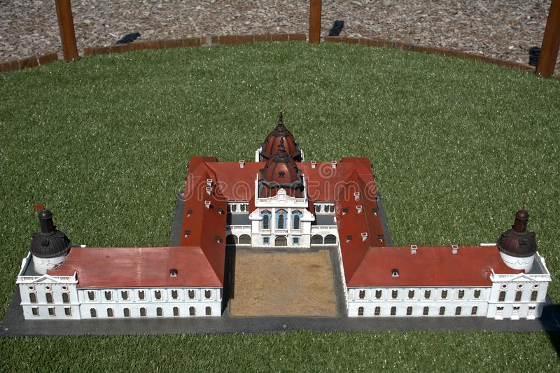 Reproduction miniature de château de Godollo, Szarvas, Hongrie photo stock