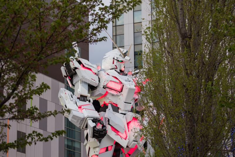 Reproduction mobile normale du costume RX-0 Unicorn Gundam photographie stock