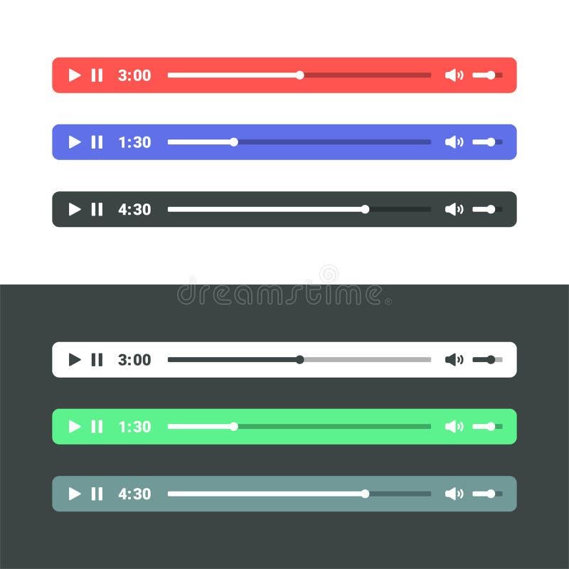 Reproductor de audio ilustración del vector
