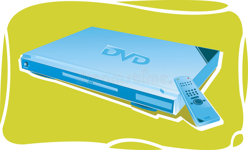 Reproductor de DVD con el telecontrol libre illustration